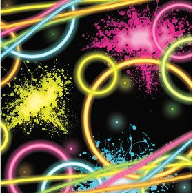 Glow Party Beverage Napkins (16 Count)
