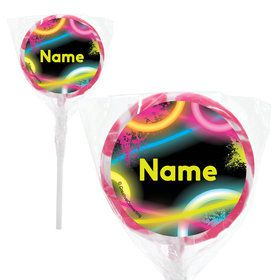"Glow Party Personalized 2"" Lollipops (20 Pack)"