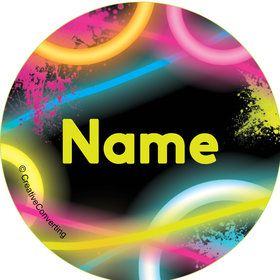 Glow Party Personalized Mini Stickers (Sheet of 24)