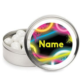 Glow Party Personalized Mint Tins (12 Pack)