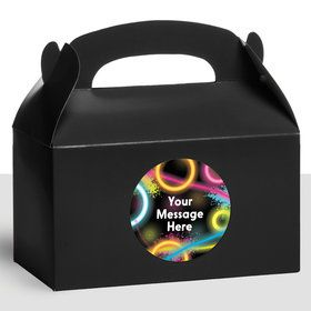 Glow Party Personalized Treat Favor Boxes (12 Count)