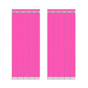 "Glow Pink 3/4"" Paper Wristbands (100 Count)"