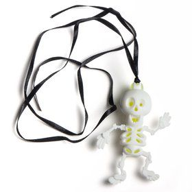 Glow Skeleton Pendant Necklace (each)