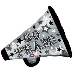 "Go Team Cheer Megaphone 29"" Balloon"