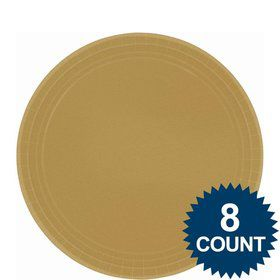 "Gold 9"" Paper Luncheon Plates (8 Pack)"
