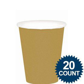 Gold 9Oz Paper Cups (20 Pack)