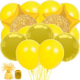 Gold and Yellow Balloon Bouquet Kit