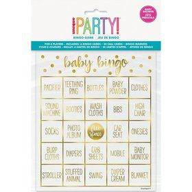 Gold Baby Shower Bingo