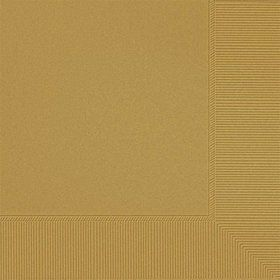 Gold Beverage Napkins (20 Pack)