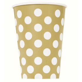 Gold Dots 12oz Cups (6 Pack)