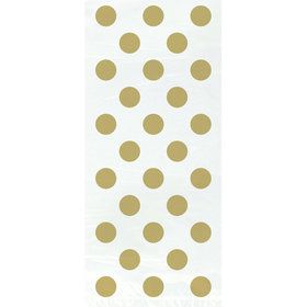 Gold Dots Cello Bags (20 Pack)