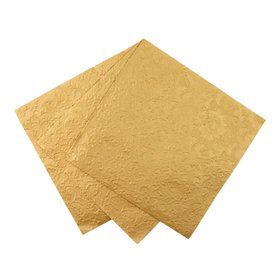 Gold Emboss Detail Napkins (20 Count)