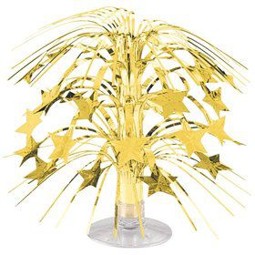 "Gold Foil 8 1/2"" Cascade Centerpiece (Each)"