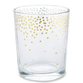 Gold Foil Dot Tea Light Holder (Set of 4)