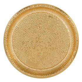 Gold Hammered Plastic Tray