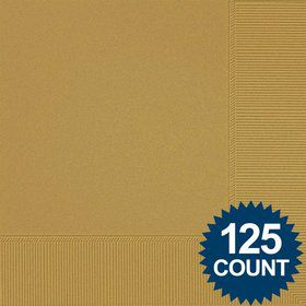 Gold Luncheon Napkins (125 Pack)