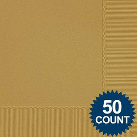Gold Luncheon Napkins (50 Pack)