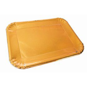 Gold Paper Platters