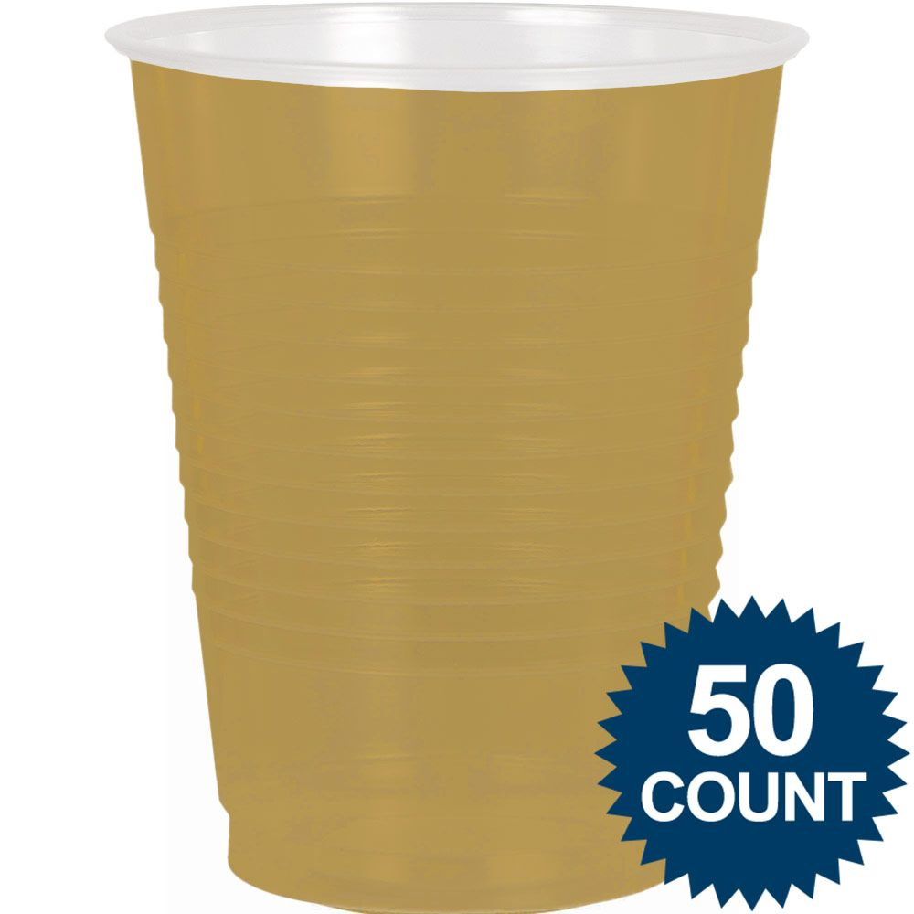 Gold Plastic 16Oz. Cup (50 Pack) BB43680119