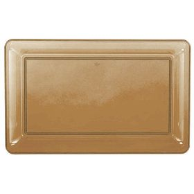 Gold Plastic Rectangular Tray (Each)