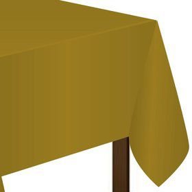 Gold Plastic Tablecover (Each)