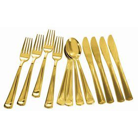 Gold Plated Cutlery Multipack