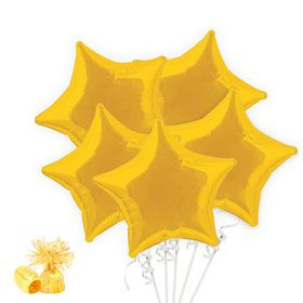 Golden Yellow Star Balloon Bouquet Kit