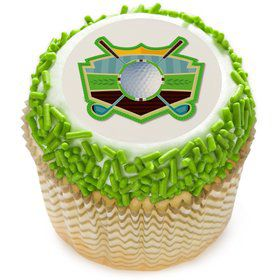 "Golf 2"" Edible Cupcake Topper (12 Images)"