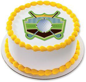 "Golf 7.5"" Round Edible Cake Topper (Each)"