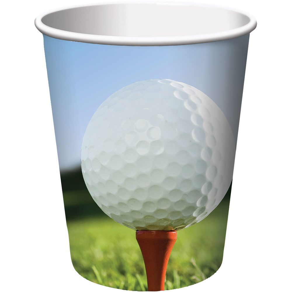 Golf 9oz Cups (8 Pack) - Party Supplies BB377965