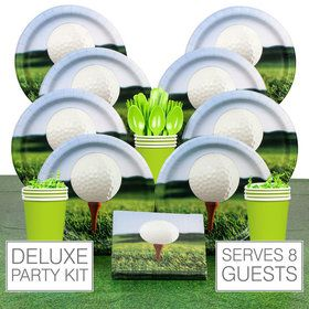 Golf Party Deluxe Tableware Kit Serves 8