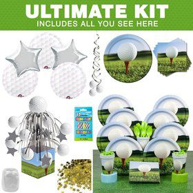 Golf Party Ultimate Tableware Kit Serves 8