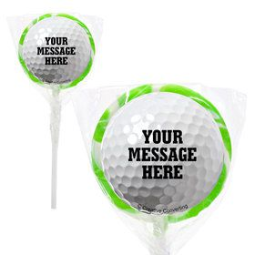 "Golf Personalized 2"" Lollipops (20 Pack)"