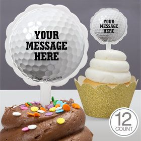 Golf Personalized Cupcake Picks (12 Count)