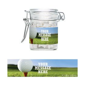 Golf Personalized Glass Apothecary Jars (12 Count)