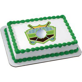 Golf Quarter Sheet Edible Cake Topper (Each)