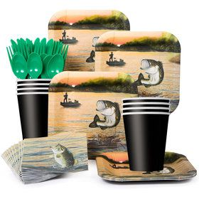 Gone Fishin' Party Standard Tableware Kit Serves 8