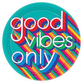 "Good Vibes 10.5"" Lunch Plate (8)"