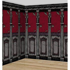 Gothic Mansion Plastic Room Roll