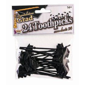 Grad Cap Toothpick Set (24pc)