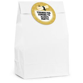 Gold Grad Personalized Favor Bag
