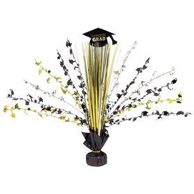 "Grad Metallic 15"" Foil Spray Centerpiece (Each)"