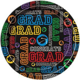 "Grad Party 9"" Luncheon Plates (8 Pack)"