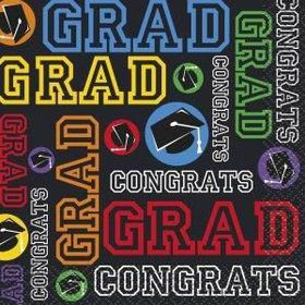 Grad Party Beverage Napkins (16 Pack)