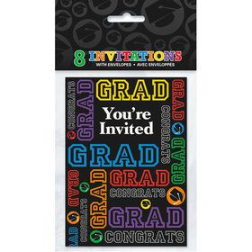Grad Party Invitations (8 Count)