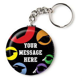"Grad Party Personalized 2.25"" Key Chain (Each)"