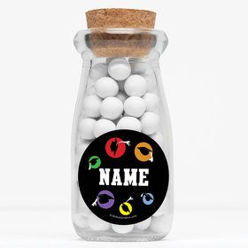 """Grad Party Personalized 4"""" Glass Milk Jars (Set of 12)"""