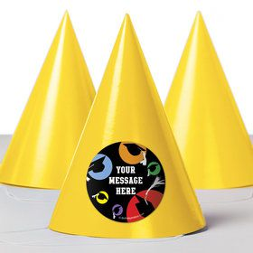 Grad Party Personalized Party Hats (8 Count)