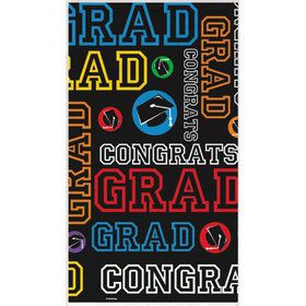 Grad Party Plastic Table Cover (Each)