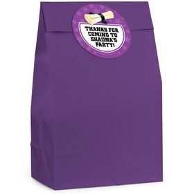 Grad Purple Personalized Favor Bag (12 Pack)